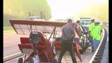 Small airplane separates from trailer on I-10 - (2/7)