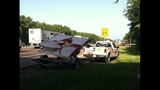 Small airplane separates from trailer on I-10 - (1/7)
