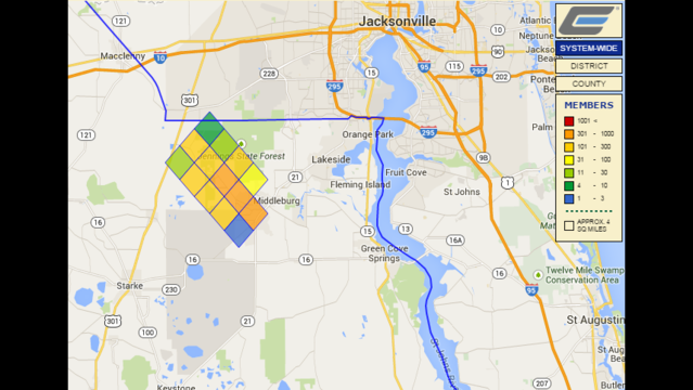More Than 4 000 Without Power Early Tuesday Morning Wjax Tv