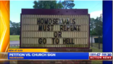 'Homosexuals must repent or go to hell' church sign receiving mixed reactions _7247049