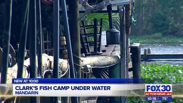 Clark 39 s fish camp still plagued by flooding wjax tv for Fish camp jacksonville