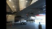 Donald Trump's Boeing 757 in Brunswick, Georgia.