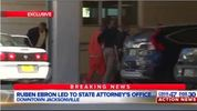 Ruben Ebron was taken to the State Attorney's Office Monday after the possible discovery of Lonzie's body.