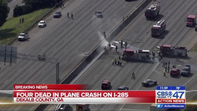 At least 4 killed in plane crash on Atlanta highway