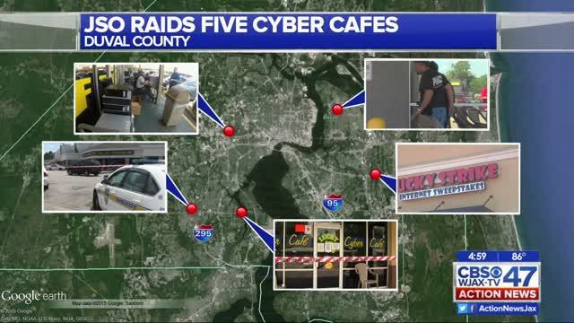 JSO raids 5 cybercafes, one woman arrested | WJAX-TV