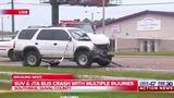 Multiple injured in SUV, JTA crash on Beach Boulevard