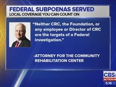 Federal subpoena served to nonprofit