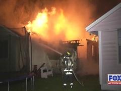 Massive fire destroys family