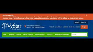 VyStar apologizes for inconvenience with Internet banking