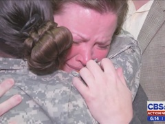 Soldiers say goodbye to family before Middle East deployment
