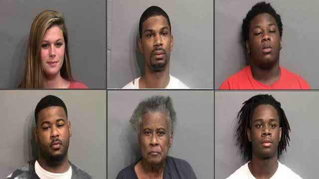 Six adults were arrested in 'Operation Bad Grade.'