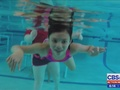 Children with Autism learing to swim