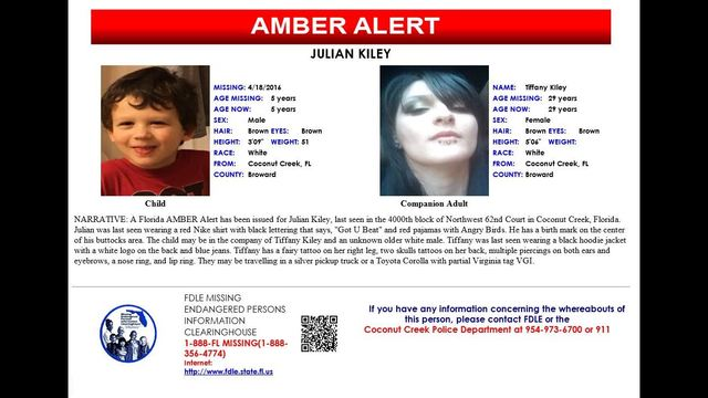 Florida Amber Alert Issued For 5 Year Old Boy Wjax Tv