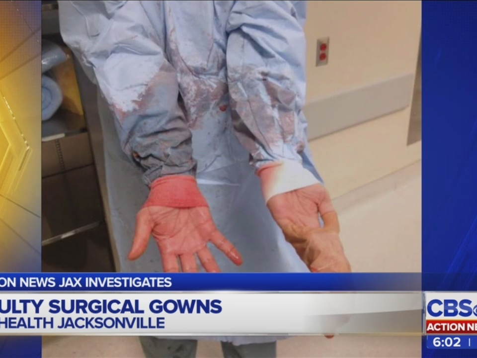 Surgical gown maker used in Jacksonville accused of not protecting ...