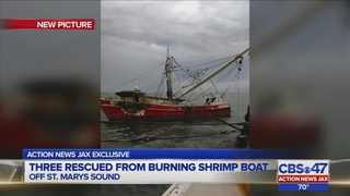 Shrimp boat owner, crew members deal with aftermath after boat fire off…