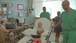 Boy who traveled from England completes final treatment at UF Proton…