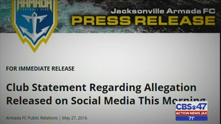 Jacksonville Armada investigating sexual assault allegation against one…