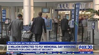 Long security lines at JAX ahead of Memorial Day weekend
