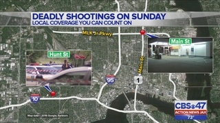 Officers search for suspects after two deadly shootings in Jacksonville