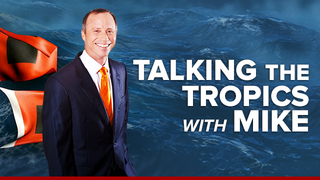 """Talking the Tropics With Mike"": Broad low pressure offshore of U.S.…"