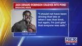 Jags Denard Robinson crashes into pond, report says
