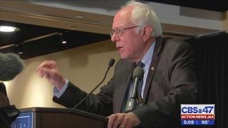 Sen. Bernie Sanders surprises Florida delegation with breakfast appearance