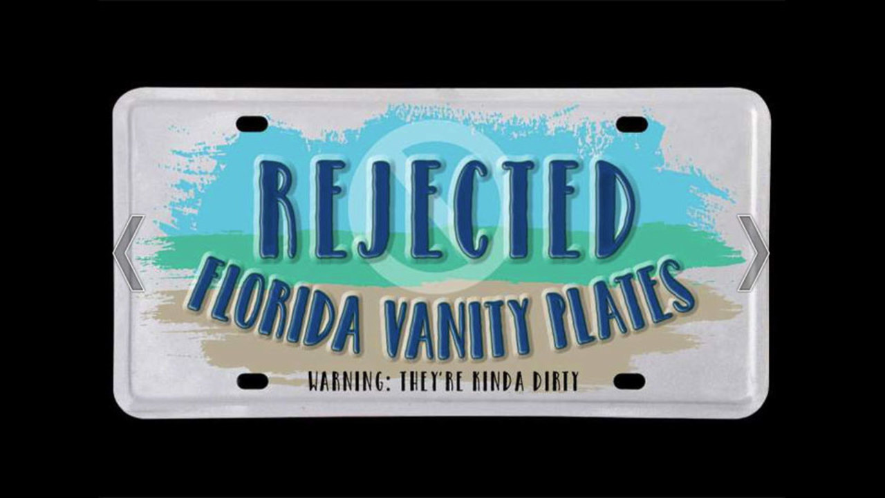 Florida Personalized License Plates >> Photos Actual Rejected Florida Vanity License Plates