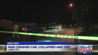 Police: Man crashes car, collapses, then dies in Lake City
