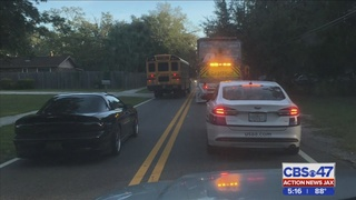 Parent says school bus crossed double yellow line