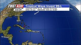 Tracking tropical wave near Bahamas