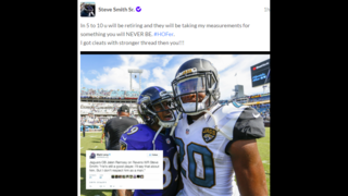 Jaguars rookie Jalen Ramsey, Ravens WR Steve Smith back and forth after game