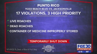 Restaurant Report: Punta Rico closed for more than 24 hours due to…