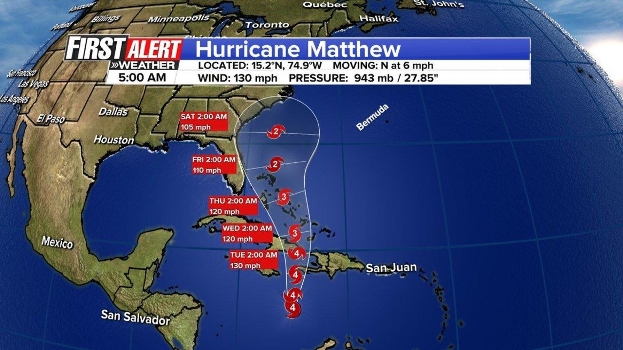 Hurricane Matthew Slow Dangerous Storm Has Islands In Path Wjax Tv