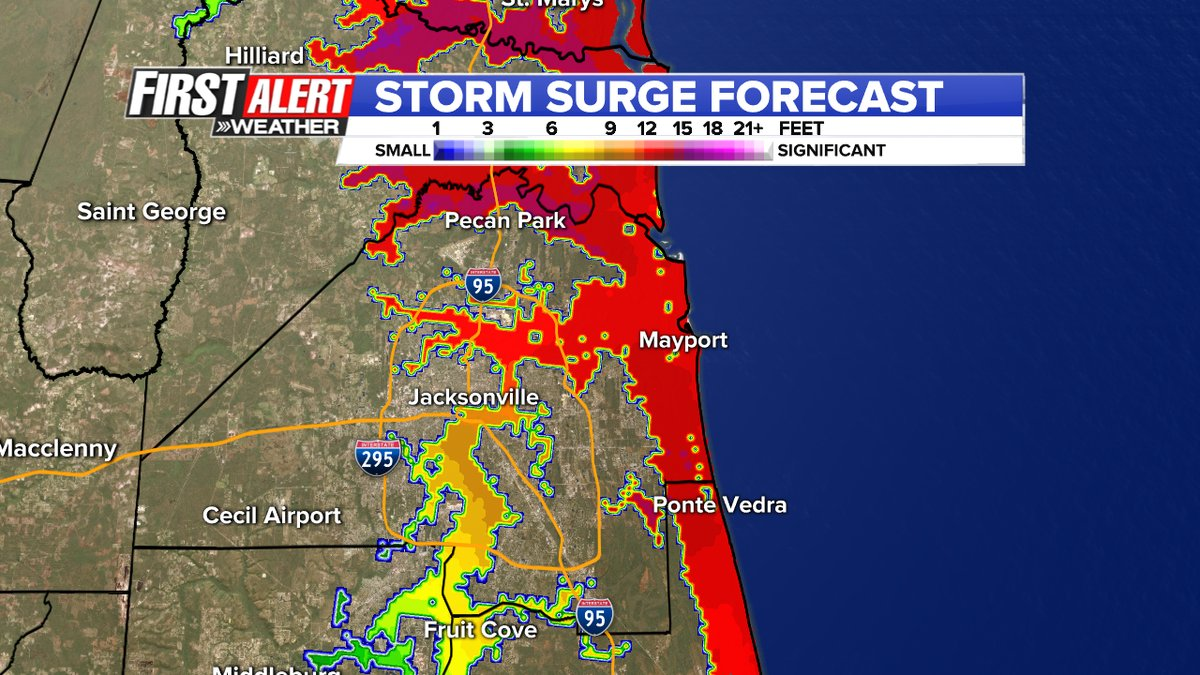 storm surge impacts could be historic | wjax-tv