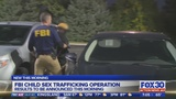 FBI to announce sex trafficking operation