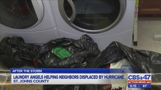 St. Augustine group washes clothes for people affected by Hurricane Matthew