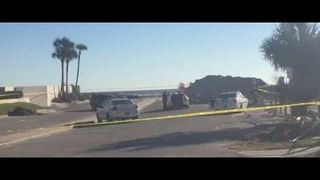 Jax Beach Police on scene of a death investigation involving a stolen vehicle