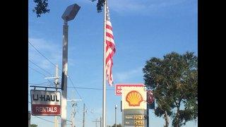 Update: Torn American flag still flying at Jacksonville gas station
