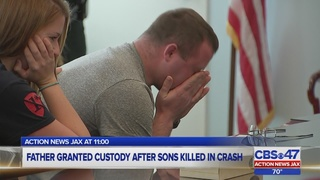 Father granted custody after sons killed in crash