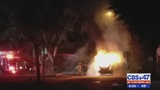 2 PEOPLE FOUND DEAD INSIDE FLAMING SUV