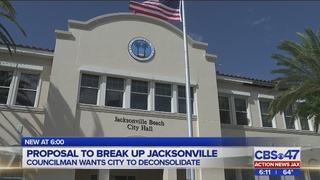 PROPOSAL TO BREAK UP JACKSONVILLE