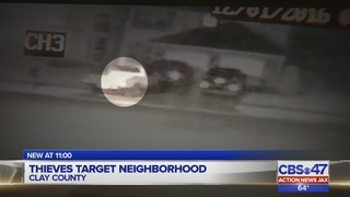 Nearly 10 cars burglarized in one night in Clay County neighborhood