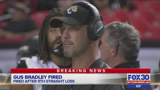Jaguars head coach Gus Bradley fired