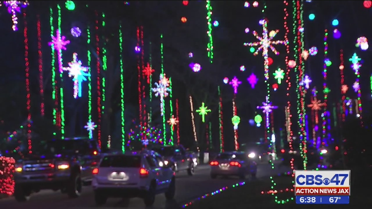 inside christmas lights display in girvin road neighborhood in