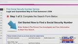Website under scrutiny for allegedly selling Social Security numbers for $249