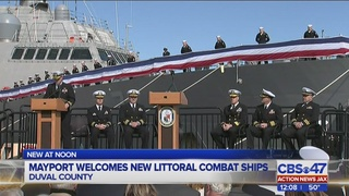 Jacksonville welcomes back two military combat ships