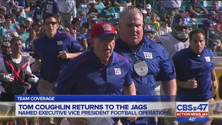 Tom Coughlin named as executive for the Jaguars