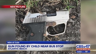 Atlantic Beach child finds gun laying on street