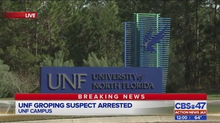 Jacksonville man accused in UNF groping arrested