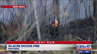 30-acre woods fire on the Westside
